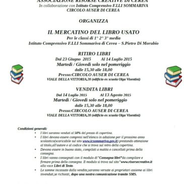 Mercatino del LIBRO USATO 2015